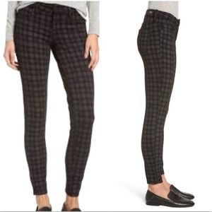Kut from the kloth skinny plaid jegging jeans